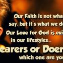 Hearers vs. Doers